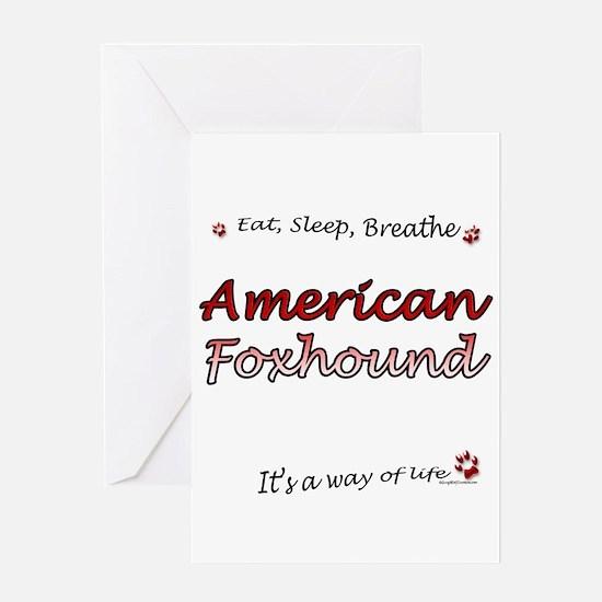 Foxhound Breathe Greeting Card