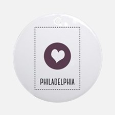 I Love Philadelphia Round Ornament