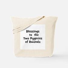 Blessings  to  the  Twa Pygmi Tote Bag
