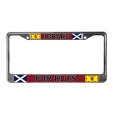 I Brake For Kilts License Plate Frame