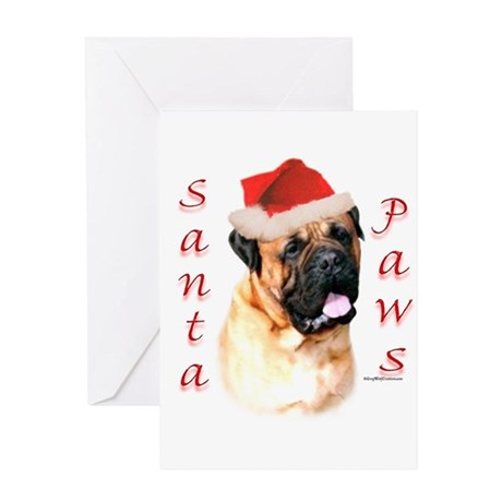 Santa Paws Bullmastiff Greeting Card