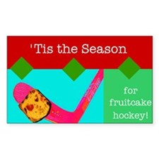 Fruitcake Hockey Rectangle Decal
