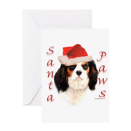 Santa Paws Cavalier Greeting Card