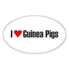I love guinea pigs Oval Decal