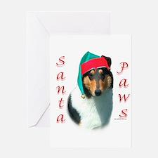 Santa Paws Collie Smooth Greeting Card