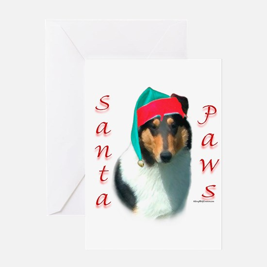 Santa Paws Collie Smooth Greeting Card