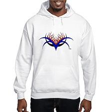 Racin' Fire Tribal Design Hoodie