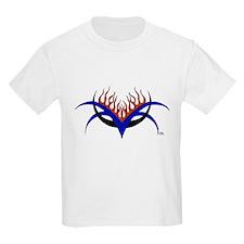 Racin' Fire Tribal Design Kids T-Shirt