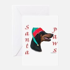 Santa Paws Doberman Greeting Card