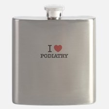 I Love PODIATRY Flask