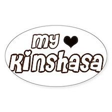 My heart Kinshasa Oval Decal