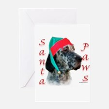 Santa Paws English Setter Greeting Card