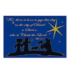 Luke2:11 Nativity Sillhouette Postcards(Package 8)