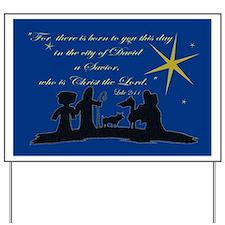 Luke 2:11 Nativity Sillhouette  Yard Sign