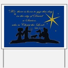 Luke 2:11 Nativity Sillhouette  Yard Sign