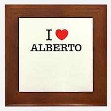I Love ALBERTO Framed Tile