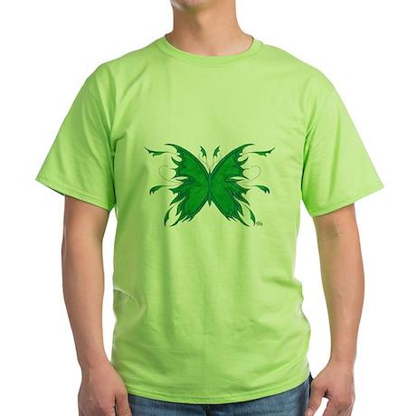 Green Butterfly Green T-Shirt
