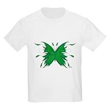 Green Butterfly Kids T-Shirt