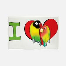 I heart lovebirds Rectangle Magnet