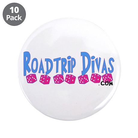 """Dice Line """"Roadtrip Divas"""" 3.5"""" Button (10 pack)"""