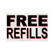 Free Refills Rectangle Magnet (100 pack)