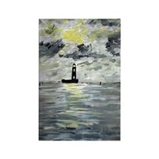 Louisiana Lighthouses Rectangle Magnet