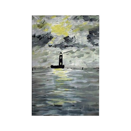 Louisiana Lighthouses Rectangle Magnet