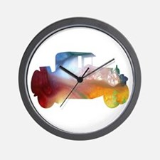 Colorful Car Wall Clock