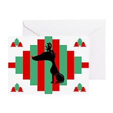 Greyhound Christmas Card