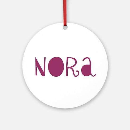 Nora Ornament (Round)