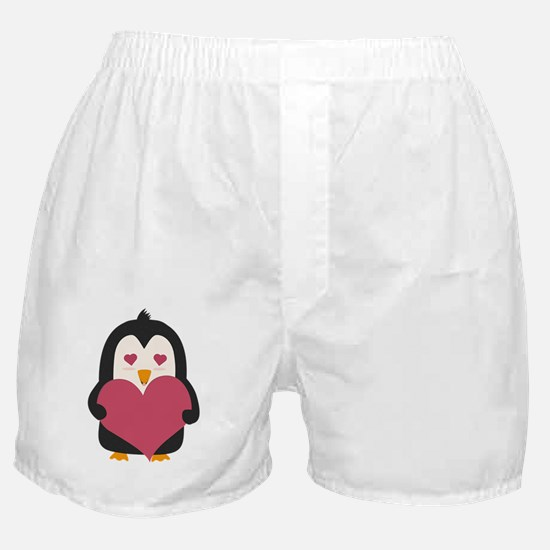 Penguin with a heart Boxer Shorts