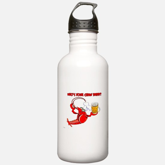 Funny Crawfish Sports Water Bottle