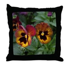more pansies Throw Pillow