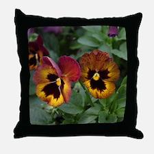 more pansies Throw Pillow