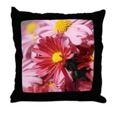pink mum Throw Pillow