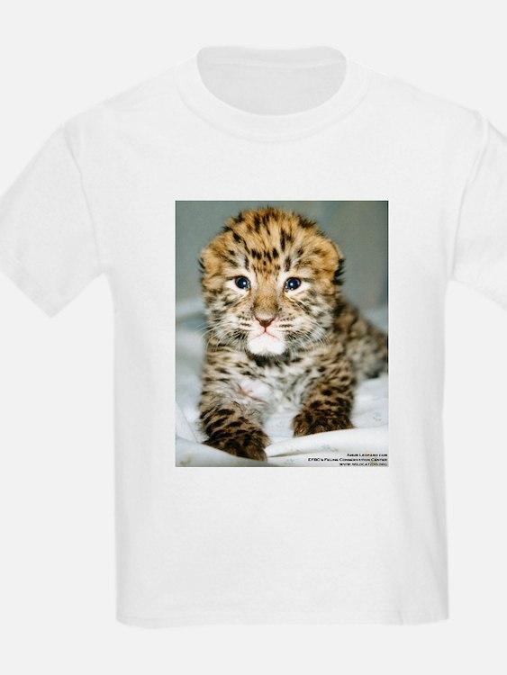 Amur Leopard cub Kids T-Shirt