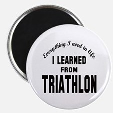 "I learned from Triathlon 2.25"" Magnet (10 pack)"
