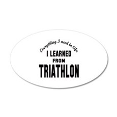 I learned from Triathlon Wall Decal