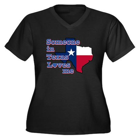 Someone in Texas loves me Women's Plus Size V-Neck