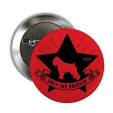 "Obey the Bouvier! Dog Star 2.25"" Button"