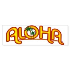 Aloha Retro Bumper Bumper Sticker