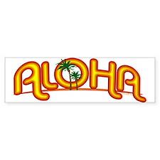 Aloha Retro Bumper Bumper Sticker