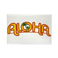 Aloha Retro Rectangle Magnet (10 pack)