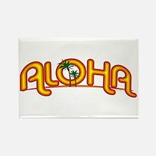 Aloha Retro Rectangle Magnet (10 pack)
