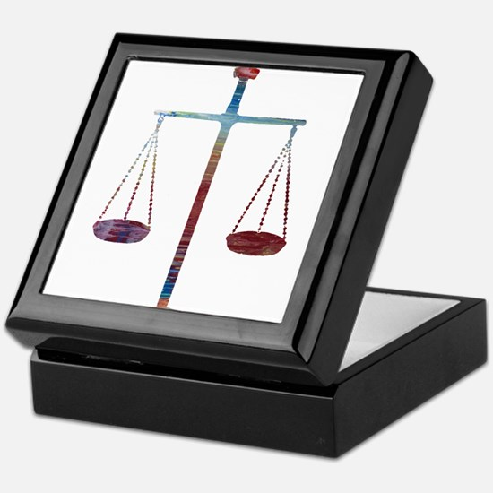 Scales of Justice Keepsake Box