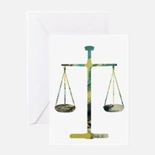 Scales of Justice Greeting Cards