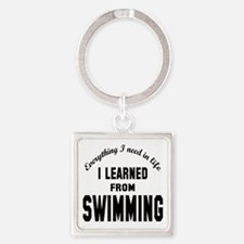 I learned from Swimming Square Keychain