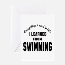 I learned from Swimming Greeting Card