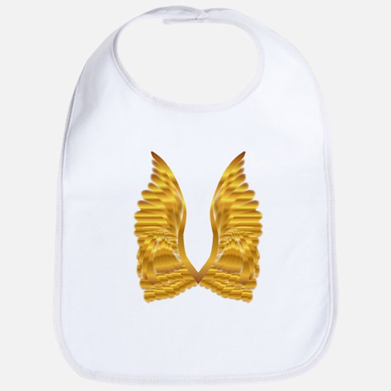 Gold Angel Wings Bib