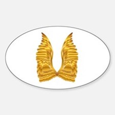 Gold Angel Wings Decal